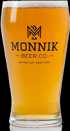 Monnik beer glass full of beer